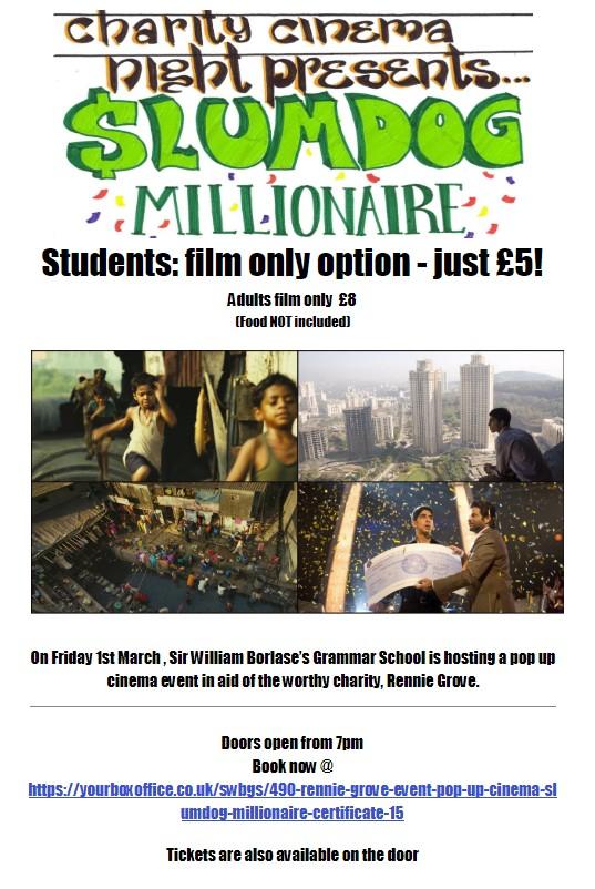 Rennie Grove Event: Pop Up Cinema: Slumdog Millionaire (certificate 15)