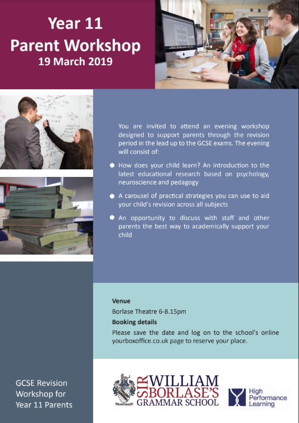 Year 11 Parent's Revision Workshop